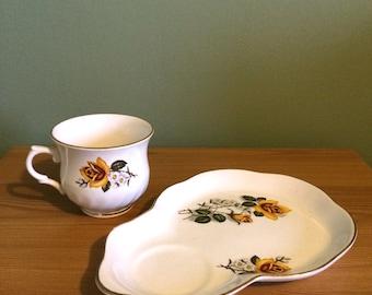 Old Foley Tea Cup and Saucer Tennis Set