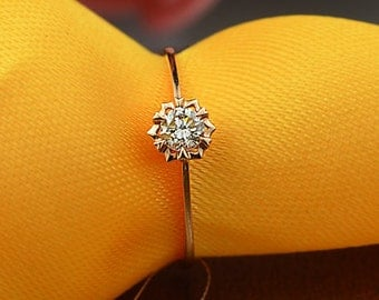 18k Rose Gold Diamond Engagement Ring Wedding Ring Diamond Ring Birthday Anniversary Valentine's