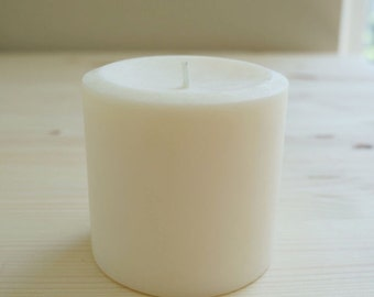 3'' x 3'' Soy Pillar Candle, Choose Your Scent/Unscented and Color, 60 Hour Burn Time