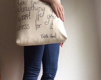 Fashion Quote Tote Bag