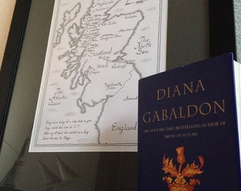 Outlander Map of Scotland | Hand-Drawn