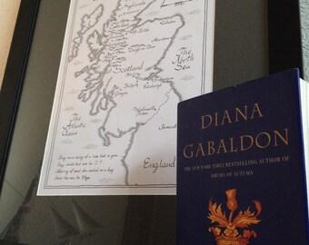 Outlander Map of Scotland   Hand-Drawn