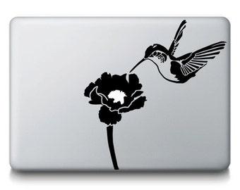 Hummingbird Animal Flower Bird Nature MacBook Mac iPad Laptop Decal Sticker