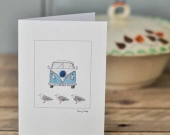 Vintage Campervan Card