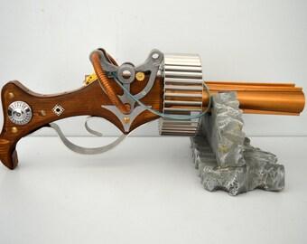 Steampunk rifle gun Thompson inspired Cosplay