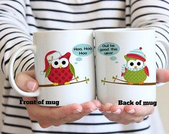 Coffee Mug Christmas Owls Coffee Cup