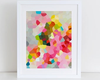 Modern Abstract Art Print Printable, Instant Download, Printable Home Decor, Digital Art Print, Geometric Art Print, Mosaic Print