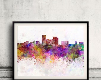 Lexington skyline in watercolor background 8x10 in. to 12x16 in. Poster Digital Wall art Illustration Print Art Decorative - SKU 0974