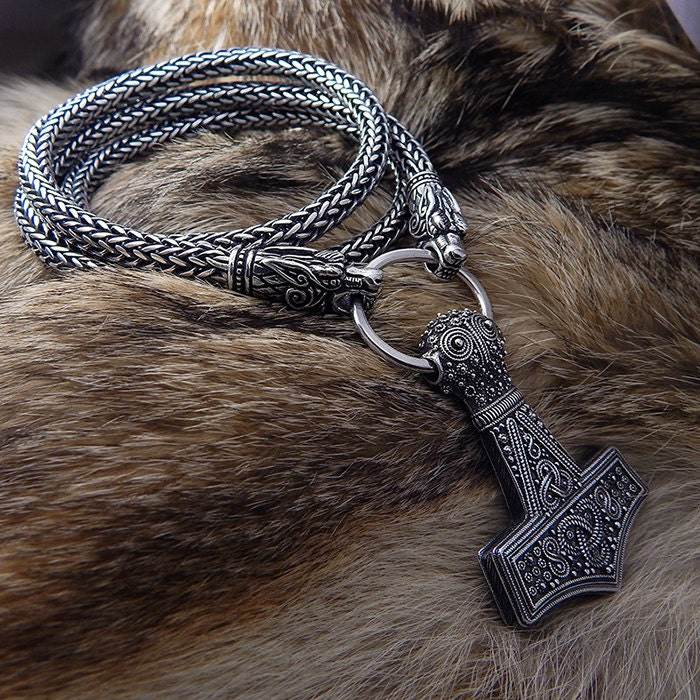 Viking Necklace Thors Hammer Replica Bredsatra Thor S