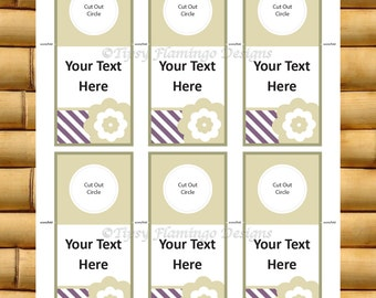 UNIQUE - Wine Bottle Labels Water Bottle Tags Note Gift Cards - Weddings, Gift Tags, Name Tags, Door Knob Sign - Instant Download - TFD254