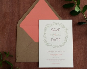 Rustic Foliage Save the Date, Prints (Sold in Sets of 10)