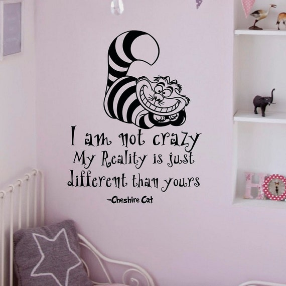 alice in wonderland wall decals quotes cheshire by. Black Bedroom Furniture Sets. Home Design Ideas