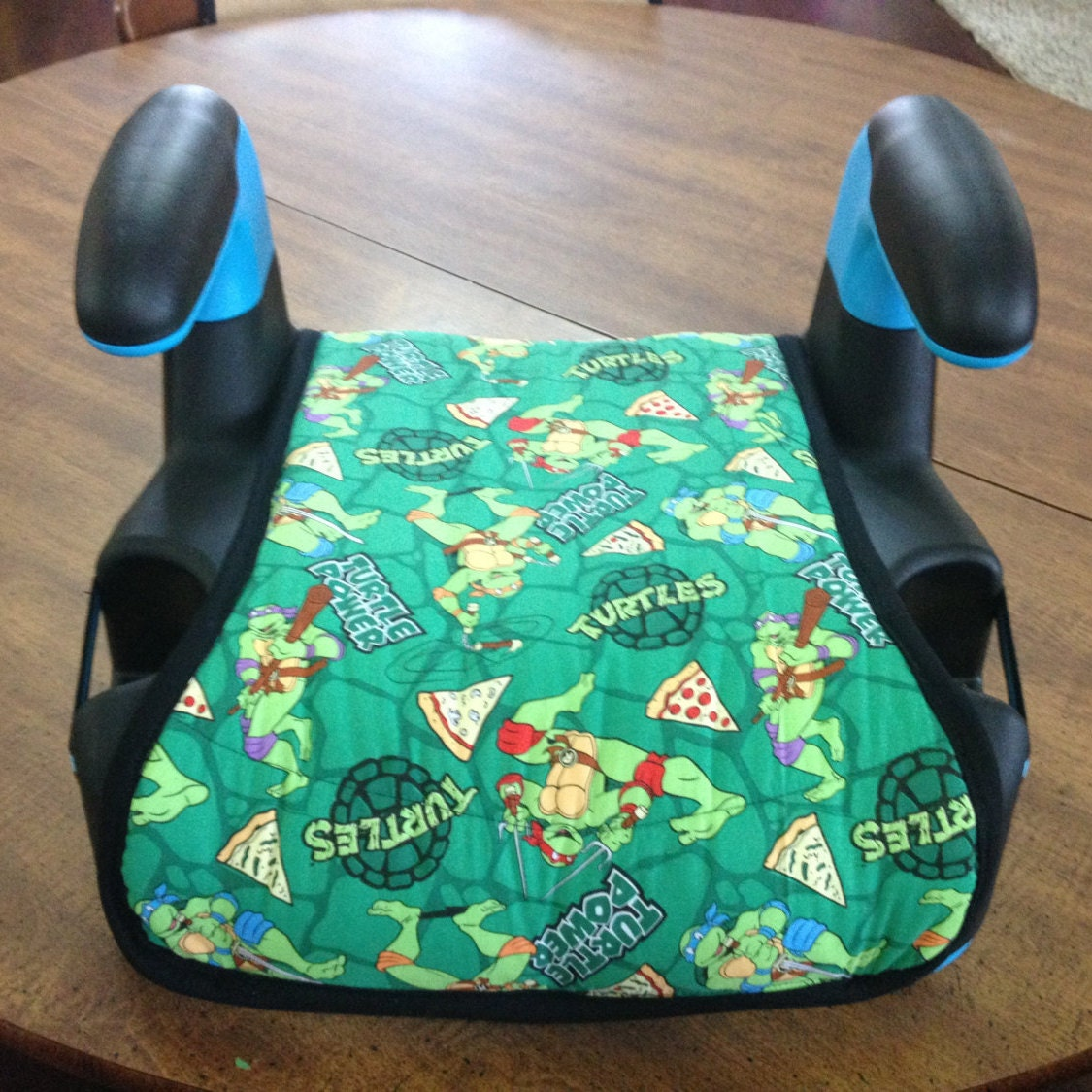 handmade booster seat cover ninja turtle by custombabythings. Black Bedroom Furniture Sets. Home Design Ideas