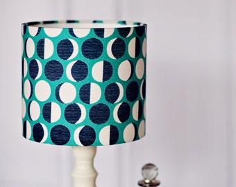 Table lamp, summer, blue lamp shade, lampshades, moon decor, handmade, birthday gift, home office, bedside lamp, floor lamp, pendant light