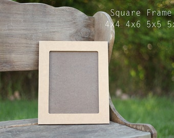 Picture Frame,Unpainted,Square,Unfinished,4x4,4x6,5x5,5x7
