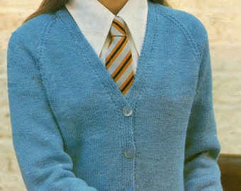 Child's Cardigan Knitting Pattern 24 - 30 inches