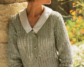 Ladies V Neck Cardigan Knitting Pattern