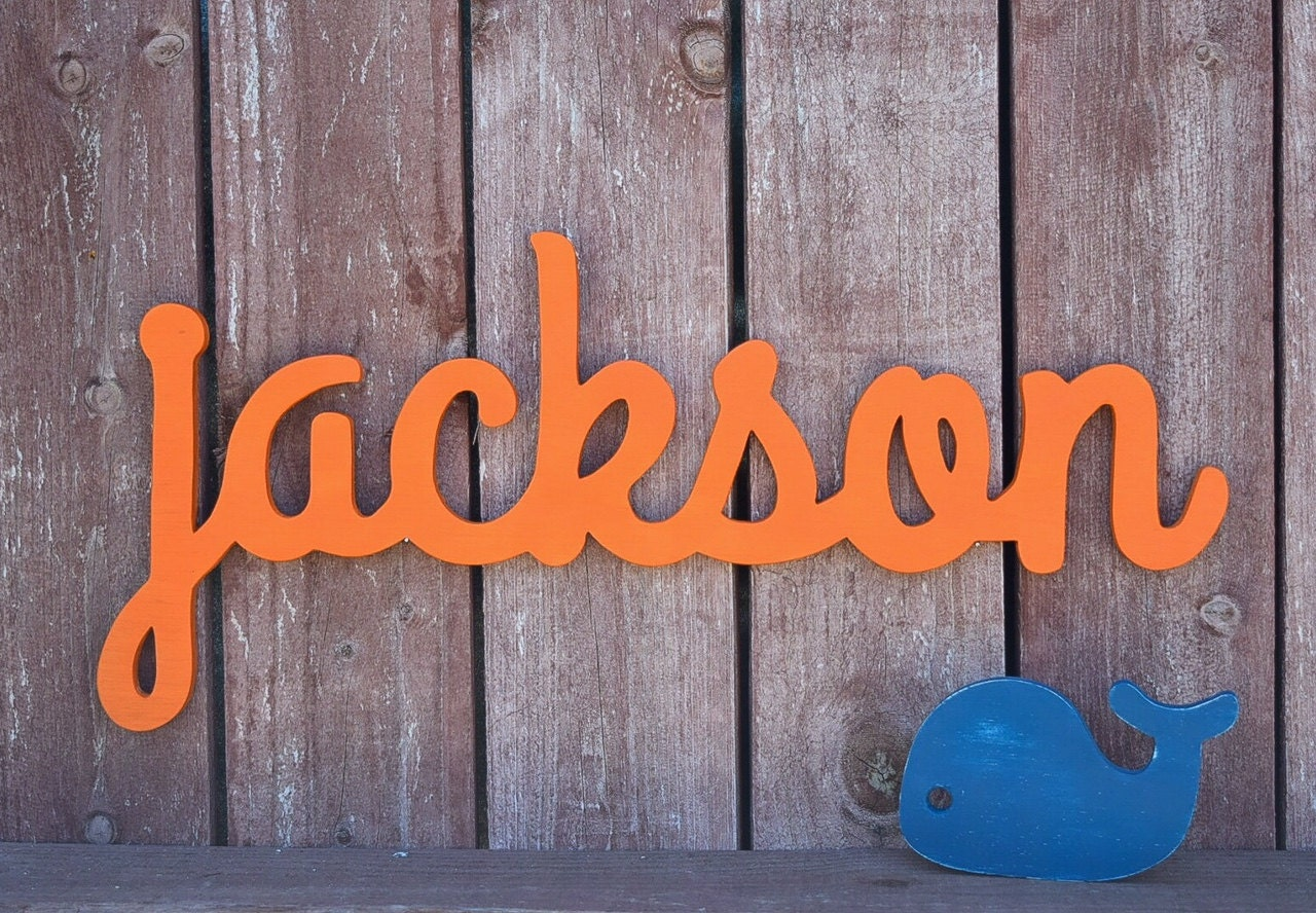Large Baby Name Sign Jackson Wooden Name Signs For Nursery