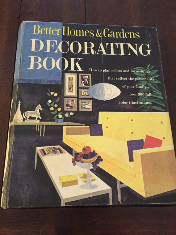 better homes and gardens decorating book 1961 vintage book