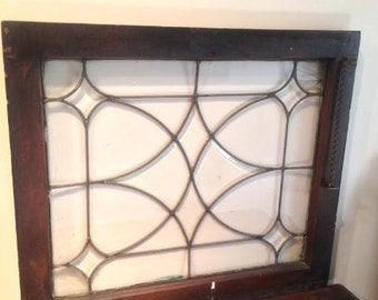 Two Beveled Lead Glass Windows