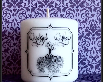 Wycked Wyllow Small Pillar Candle