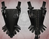 Rococo Gothic Overbust Corset ~ Baroque  Dark fashion style ~ 18th century Period Historical Stay