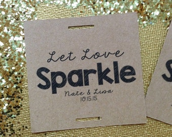 Sparkler Tags, Let Love Sparkle Tag, Wedding Sparkler Tags, Sparkler, Sparkler Send Off, Wedding Decoration