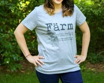 Womens Farm Definition T-Shirt