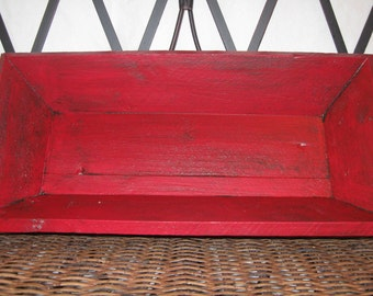 Recycled Cedar Tray - Red