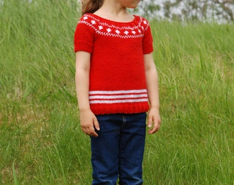 Little girl's sweater dress. Handmade.