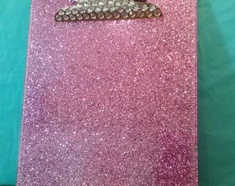Glitter Clip Board (Plastic) (Your Choice of Color)