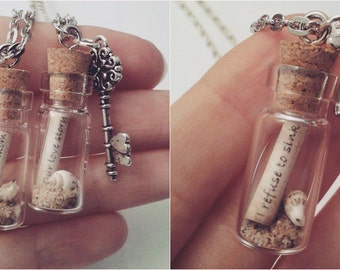 CUSTOM Message In A Bottle Necklace! Any message you want!