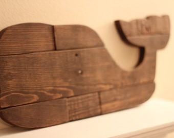 Wooden Whale - Wall Art - Reclaimed Pallet Whale