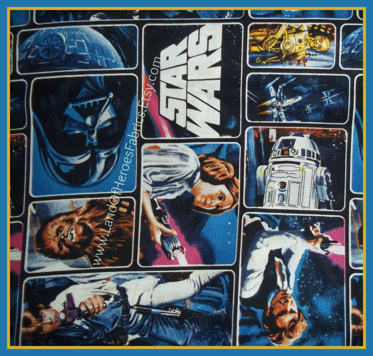 Star Wars Classic Cotton Fabric by Camelot Featuring Luke