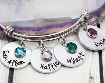 Personalized Bracelet - Mom Bracelet - Mom Name Bracelet - Mothers Name Bracelet - Personalized Name Bracelet - Bracelet for New Mom
