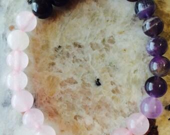 Gemstone Love Bracelet/Healing Crystal Jewelry/Reiki Crystal Healing