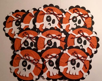 Handmade Halloween Set of 10 Embellishments, Card Making, Scrapbooking