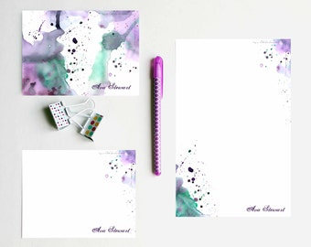 Art Cards Letter Writing Paper Stationery Paper Letter Paper Personalized Watercolor Cards Stationery Kit Blank Cards Blank Note Card Set