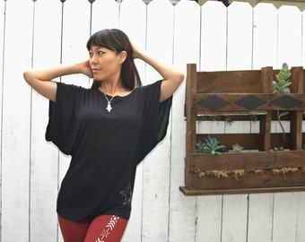 Mira Betz Dolman Sleeve, bat wing TShirt