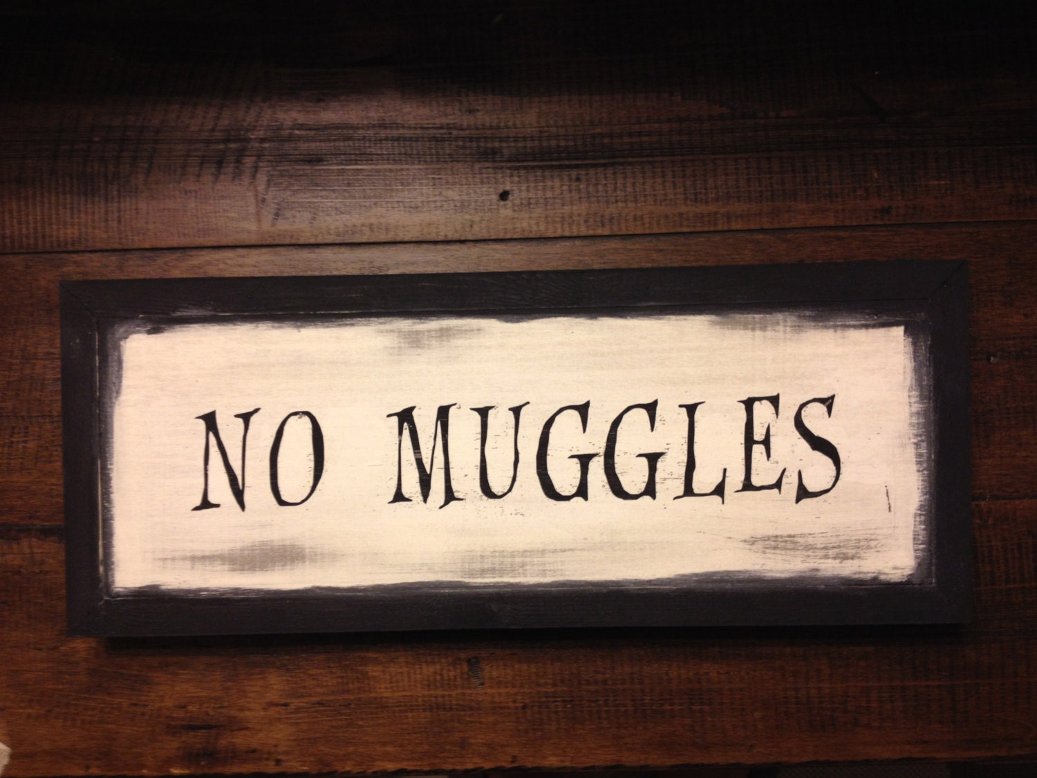 No Muggles Harry Potter Wood Sign By RusticHoneySigns On Etsy