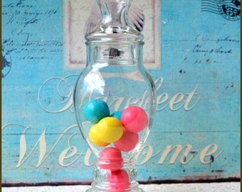 Vintage Candy Apothecary Jar / Wedding Candy Buffet / Penny Candy Jar / Apothecary Jar