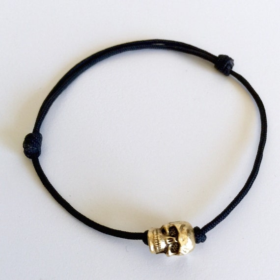 single sliding knot bracelet metal alloy single skull adjustable sliding knot by 2753