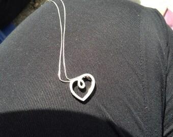 Sterling Silver Heartshape Necklace