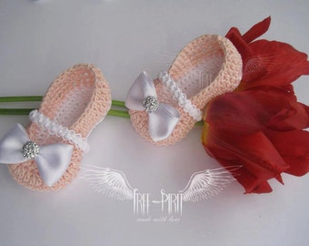 Crochet baby ballerina shoes * Baby booties * Baby shoes * Newborn booties *Baby slippers
