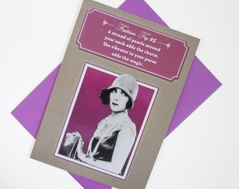 Pearls | Funny Birthday Card For Her - Vintage Fashion - Sassy Humor - Girlfriend - Vibrator