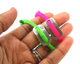 custom crossfit bracelets, team bracelet, sliding knot, athletic bracelet, crossfit bracelet, team bracelet