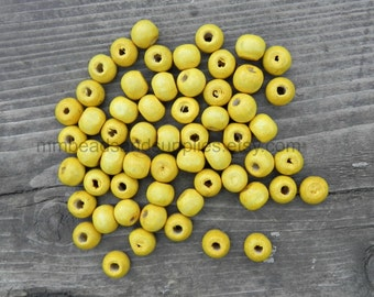 1000 pieces 8mm yellow boxwood beads