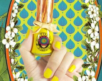 Lemon Sunshine, Handmade, Water-Based Nail Polish.