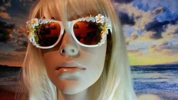 I'm Really A MERMAID Sunglasses Sun Glasses Sunnies Wayfarers Aviators Im Ariel Beach Sea Ocean Nautical Pinup The Little Mirrored A003