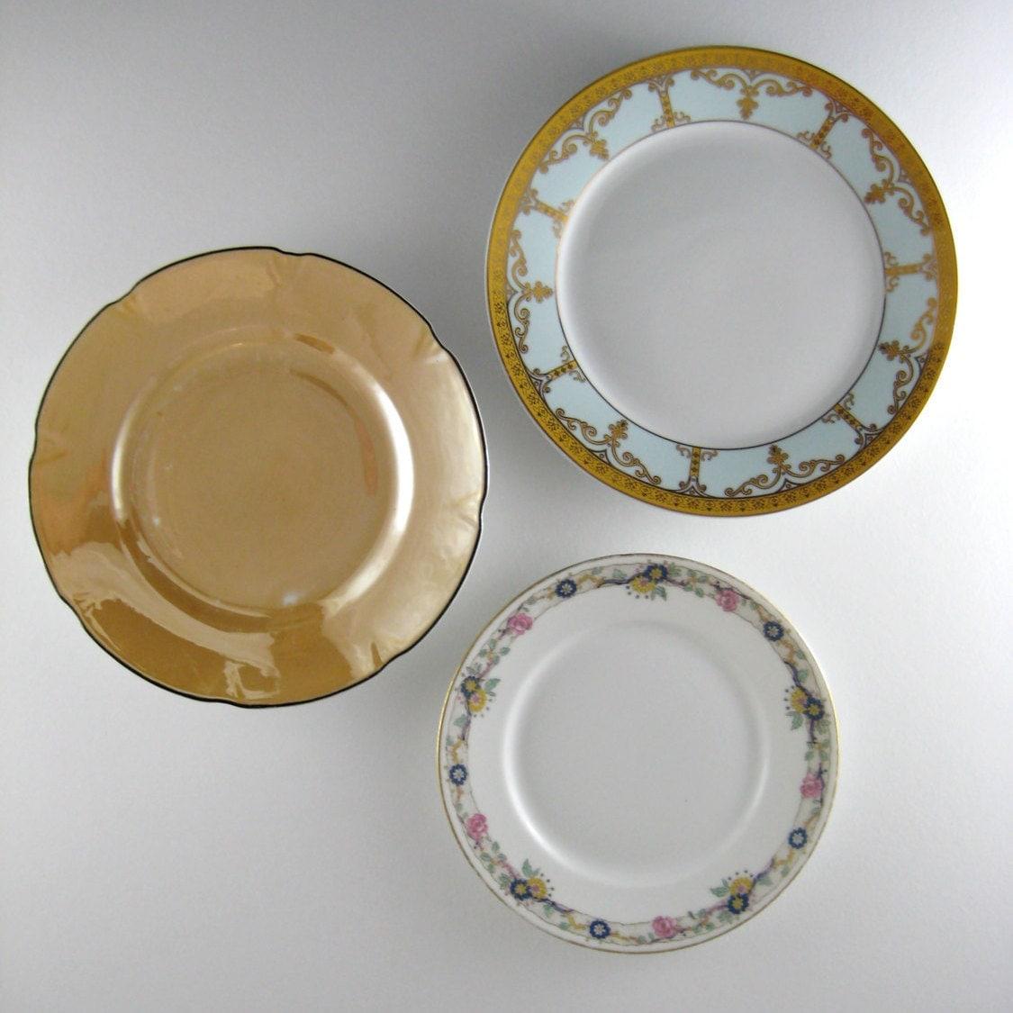 Decorative Wall Plates Kitchen : Vintage plates mismatched decorative kitchen